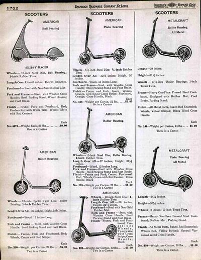 Primeras comercializaciones del patinete