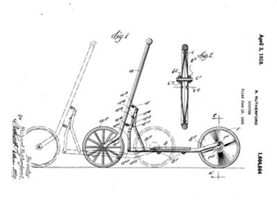 Registro de patente. Bocetos de patinete