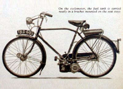 Bicicleta a motor 1914