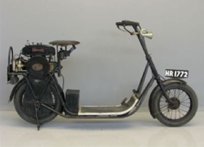 moto-scooter matriculada