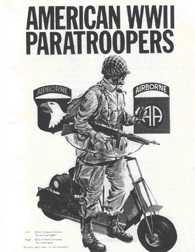 Militar con una moto-scooter de rueda pequeña
