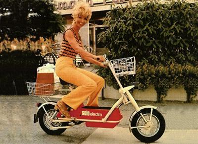 Modelo moto eléctrica años 70