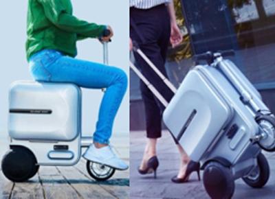 Bag Scooter, maleta en la que puedes ir sentado eléctrica.