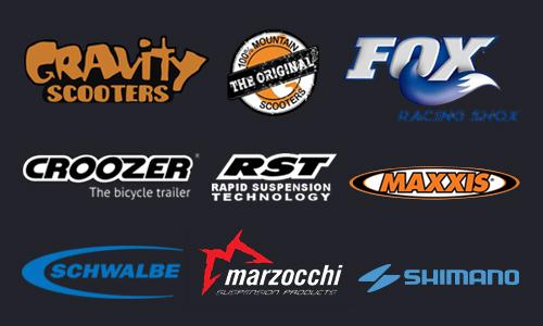 Logotipos elementos patinete eléctrico