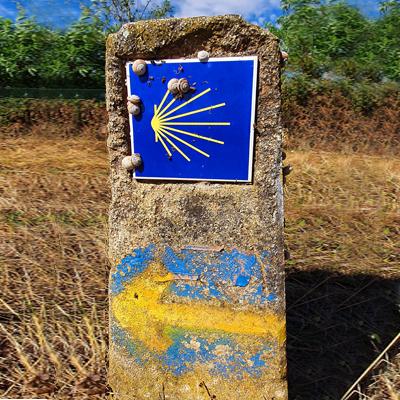 Señal Camino de Santiago