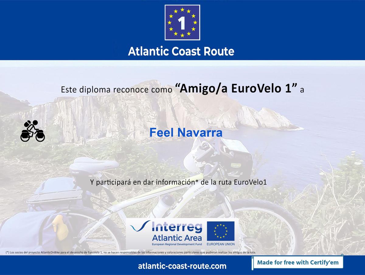 Diploma Red Eurovelo
